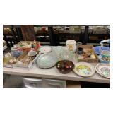 Mushroom Cookie Jar, Plates, Figurines, Decor