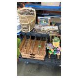 Doll Wicker, S & P Shakers, Sundial, Brass Box
