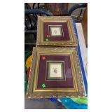 4 Gold Framed Pictures