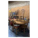 """Kitchen Table & 6 Chairs: 64""""42""""30"""""""
