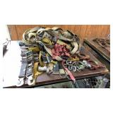 Assorted Ratchet Straps, Ball, Hooks
