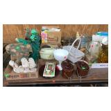 Misc Small Yard Deco Pcs, Stamps, Utensils, Glass