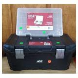 Ace Black Toolbox & Ace Clear Organizer Box