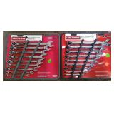 Craftsman 9 Pc Metric & 9 Pc Inch Wrench Sets
