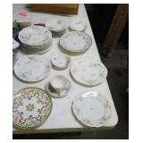 Group of Haviland limoges plates, & others