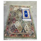 Two oriental rugs (rough condition)