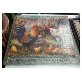 Decorative frame and puzzle art