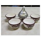 Hershey candy dish & bowls