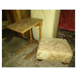 Small table and stool