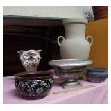 Large 21 inch urn, planters, and vase