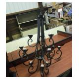 Large wrought iron ceiling light.