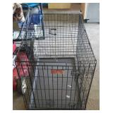 Large pet  crate with tray