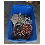 Tote of electrical cords, extension  cords