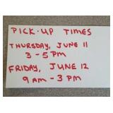 Pick-up times