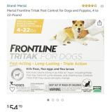 New Frontline Tritak For Dogs 4-22 Pounds Open