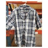 Columbia plaid short sleeve button up size 4XT.