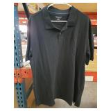 Amazon essentials black polo style short sleeve
