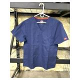New Size Medium Dicks Scrub Top Blue