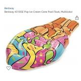 Bestway 43185E Pop Ice Cream Cone Pool Float,