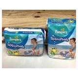 Pampers splashes size large