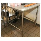 John Boos Model ST6-3636SBK Work Table, SS