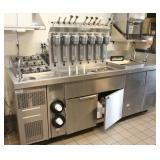 Custom Milkshake Prep station, Stainless Steel