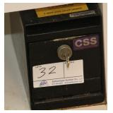 (3) CSS Money Drop safes with keys