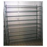 "Focus Green Epoxy Coated Wire Shelf Unit 72""W x21"""
