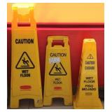 3 Caution Wet Floor signs