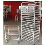 (2) sheet pan racks, 1-Winco ALRK-15
