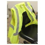 (2) Florescent Green Safety vests