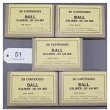 (5) boxes 20 rds. per box Winchester Olin