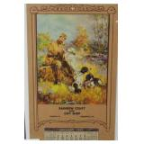 Hunt scene calendar embossed pring of man w/3