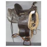 "Signed D.E. Walker ""Visalia"" stock saddle,"