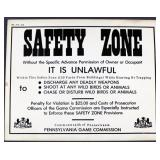 "PA Game Commission ""Safety Zone"" cardboard"