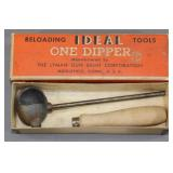 Vintage Lyman Ideal One dipper in graphic box,