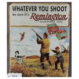 Reproduction Remington Shur Shot advertising metal