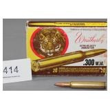 (12) rounds Weatherby .300 W.M. Ultra-Velocity