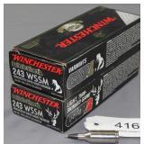 (2) boxed Winchester .243 WSSM Winchester Super