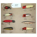 lot of 8 asstd. fishing lures to include Heddon