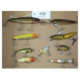 lot of 9 asstd. fishing lures to include original