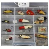 lot of 13 asstd. fishing lures and 1941 State of