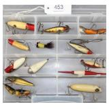 lot of 12 asstd. lures and bobbers, Southbend and