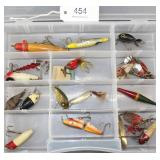 lot of 18 asstd. lures and bobbers to include