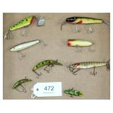 lot of 8 asstd. lures to include Sputterbug, Pikie