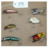 lot of 6 asstd. lures to include Heddon Punkinseed