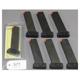 (7) Hi-Point .45 cal. pistol mags.