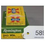 (1) full box Remington .243 Win. 100 gr. SP &