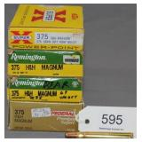 (4) full boxes .375 H&H Magnum cartridges,