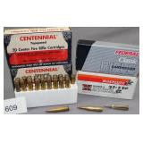 (4) boxes .22-250, 2 Centennial 55 gr. and 2 boxes